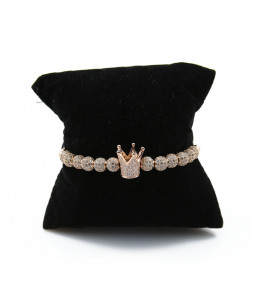 Rose Gold Premium Crown Náramek